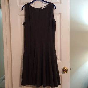 Calvin Klein gray flowy dress